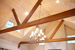 Внутренняя отделка деревянного дома, фото