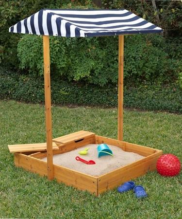Песочница для детей с крышкой своими руками