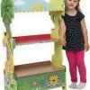 Bright-Cool-Hand-Carved-Wooden-Bookshelf-with-Cabinet-for-Kids-with-Sunny-Safari-Theme