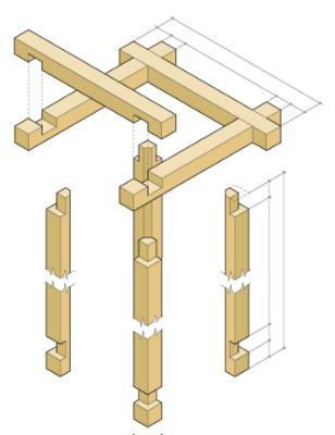 Схема сборки самодельного настольного светильника.