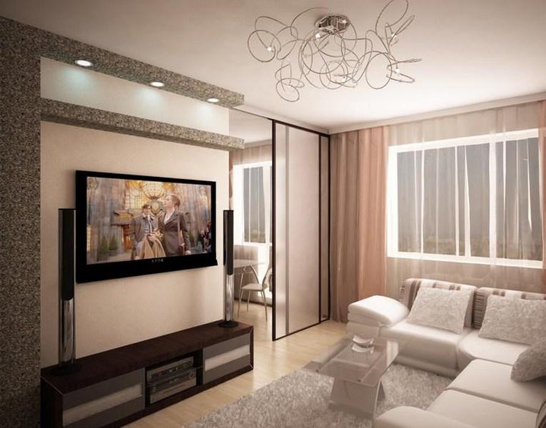 Дизайн интерьера 1 комнатной квартиры 40 кв.м 2017