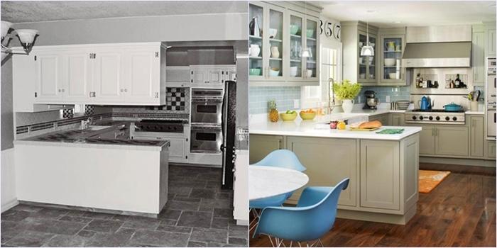 Ремонт в кухне: фото до и после ремонта
