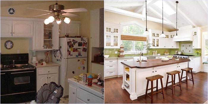 Кухня до и после фото
