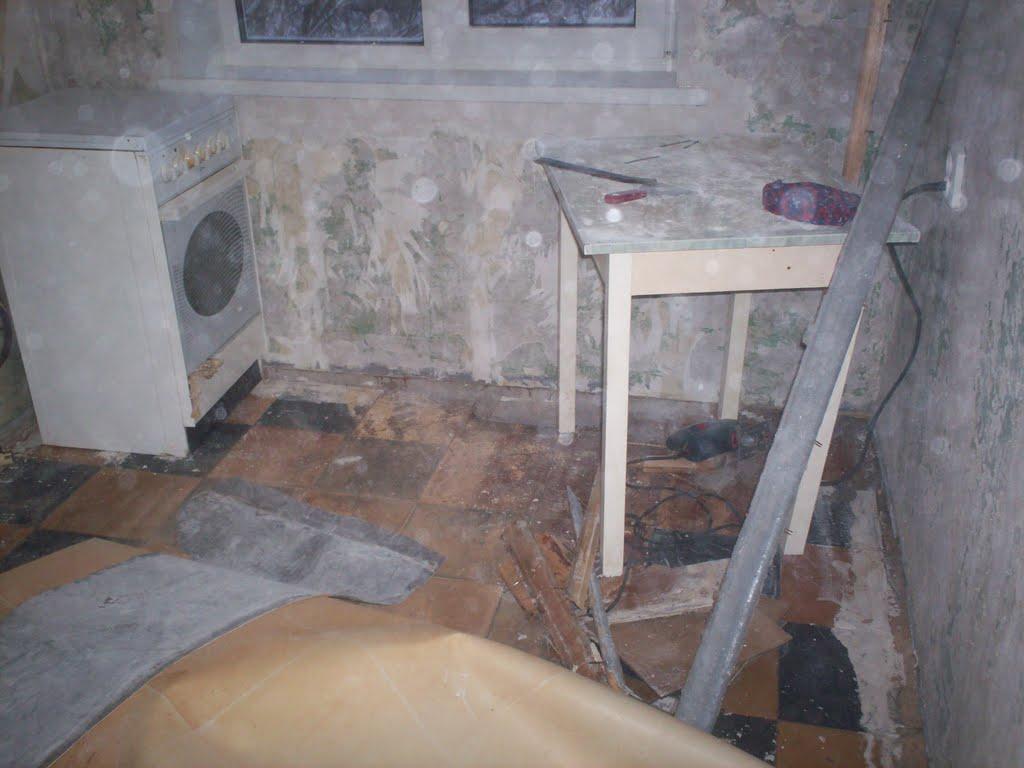 Ремонт пола в хрущевке на кухне