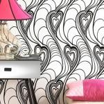 Фото дизайна стен обоями