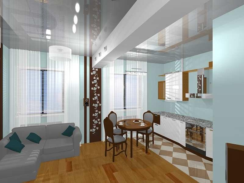 Кухня, совмещенная с залом. фото проекта, ремонта, дизайна и.
