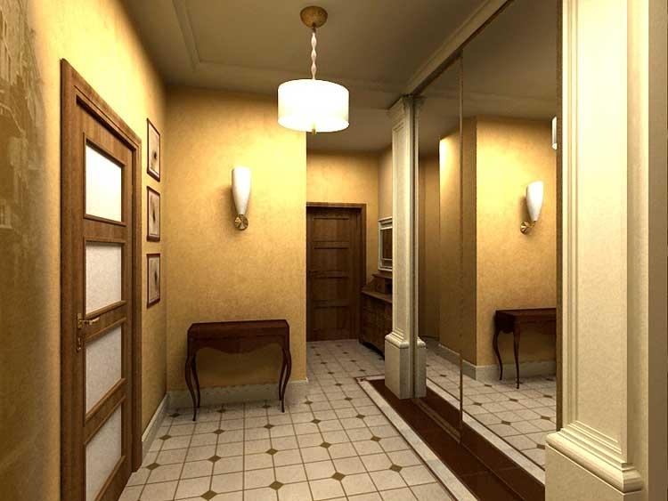 Коридор квадратный в доме дизайн