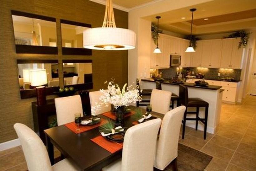 Совмещение столовой и гостиной фото.
