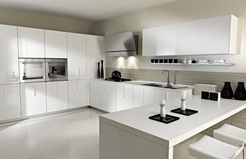 Современные белые кухни фото
