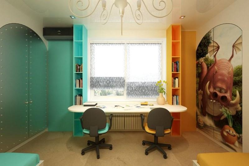 Дизайн комнаты с детской зоной