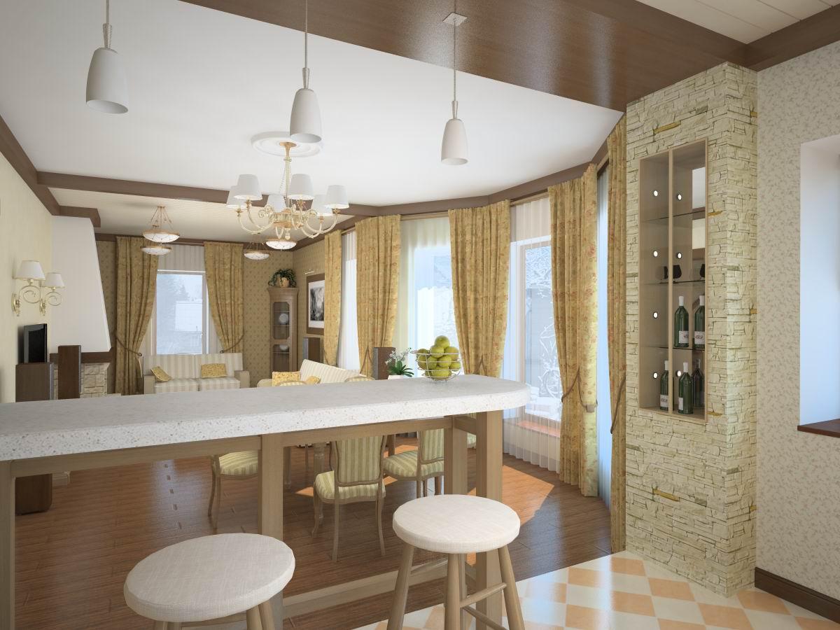 Фото дизайн совмещенные кухня гостиная