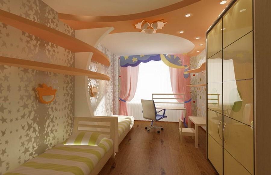 Комната для двух девочек с балконом..