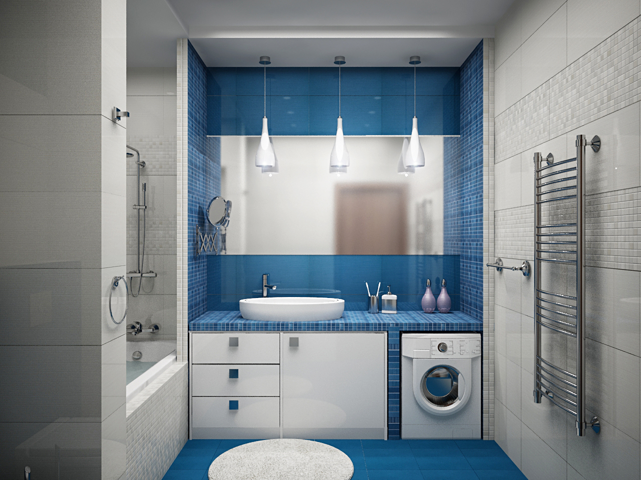 Дизайн ванной комнаты 5 кв.м без туалета
