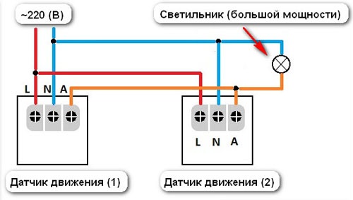 Как подключить датчик движения