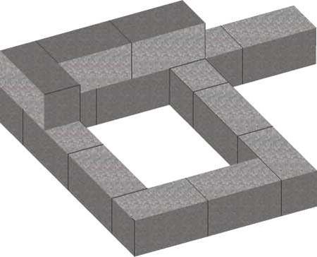 Укладка фундамента из блоков ФБС