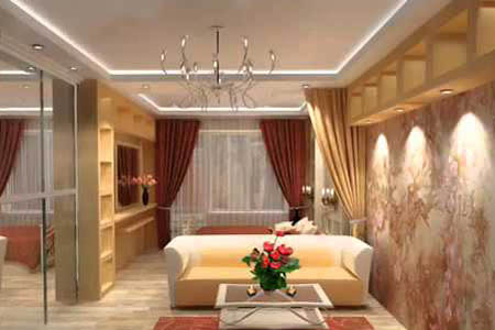 Потолок из гипсокартона с подсветкой