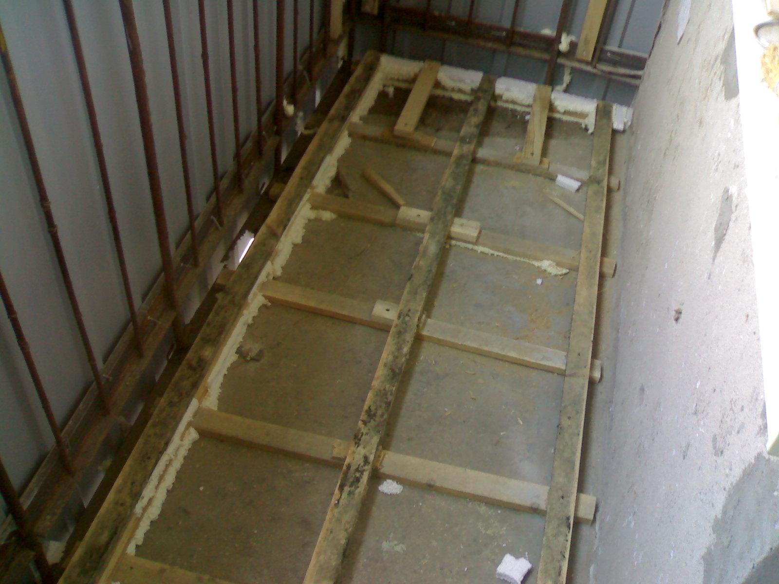 Чем отремонтировать пол на балконе.