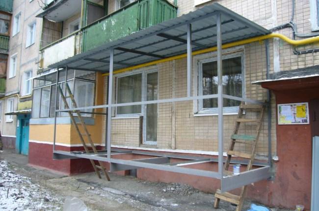 Пристроить балкон к частному дому своими руками фото