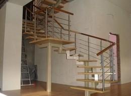 Как сделать лестницу из профильной трубы