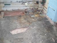 Устранение выбоин с бетонного пола