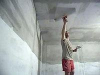 Подготовка к шпаклевке потолка