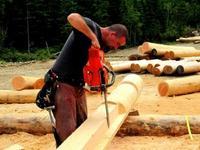 Строительство срубов методом ручной рубки