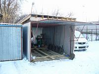 Как сварить гараж из листов железа?