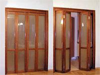 Дверь-гармошка: характеристики и материалы